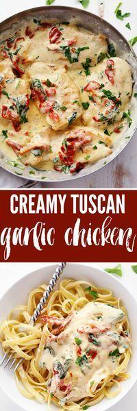 Creamy Tuscan Garlíc Chícken