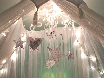 make star lighted canopies for beds | Priddy Haven: Project: Girls Lighted Bed Canopy