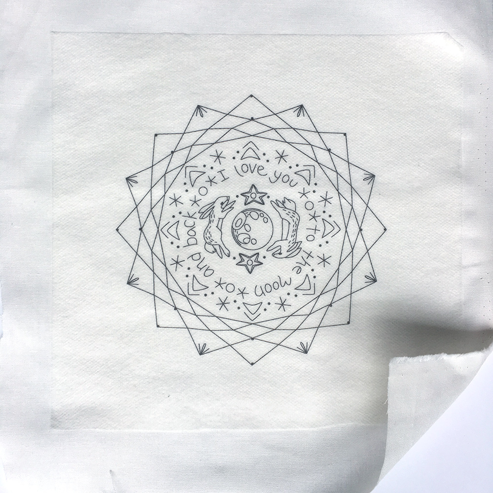 Little Dear Tracks The Easiest Way To Transfer Embroidery Patterns