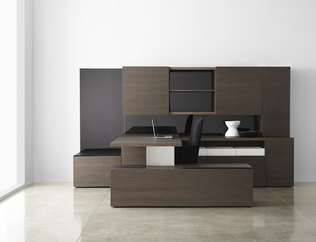 best buying black gloss modern office furniture wood sets for sale