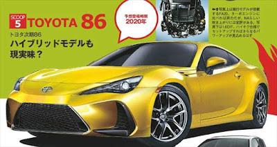 トヨタ新型86 フルモデルチェンジ最新情報 予想画像