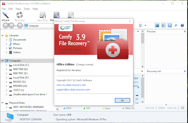 Comfy File Recovery Key Download