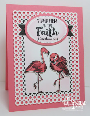 ODBD Tickled Pink, ODBD Custom Flamingos Dies, ODBD Custom Circle Scalloped Rectangles Dies, ODBD Custom Pierced Ovals Dies, ODBD Custom Ovals Dies, Card Designer Angie Crockett