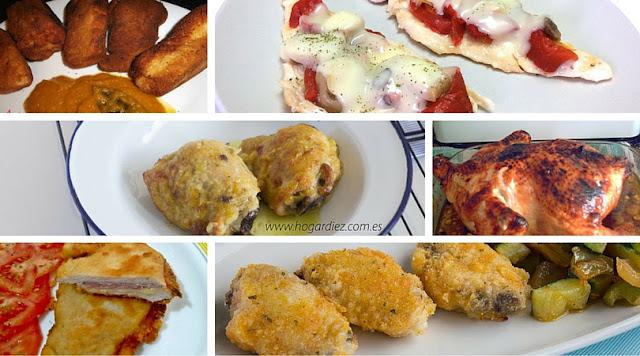 6 recetas fáciles con pollo