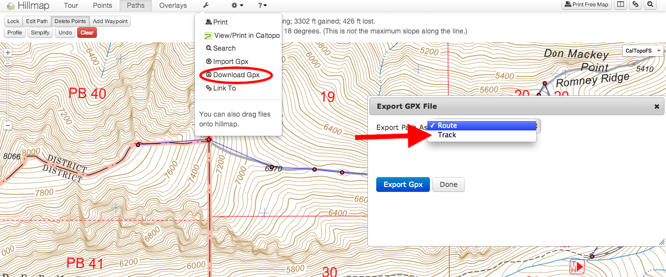 Free the Hills: Import and Export to your GPS using Hillmap