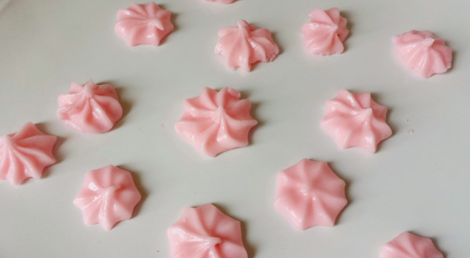 Strawberry cream cheese mints, party favors