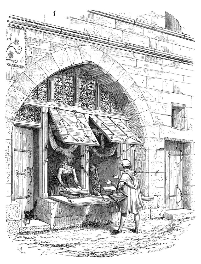 01-A-Shop-in-Paris-Eugène-Viollet-le-Duc-Gothic-Drawings-from-an-Architect-in-18th-Century-www-designstack-co