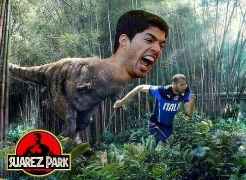 Suarez Dinosaur Park Funny Joke Picture