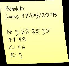 Bonoloto hoy
