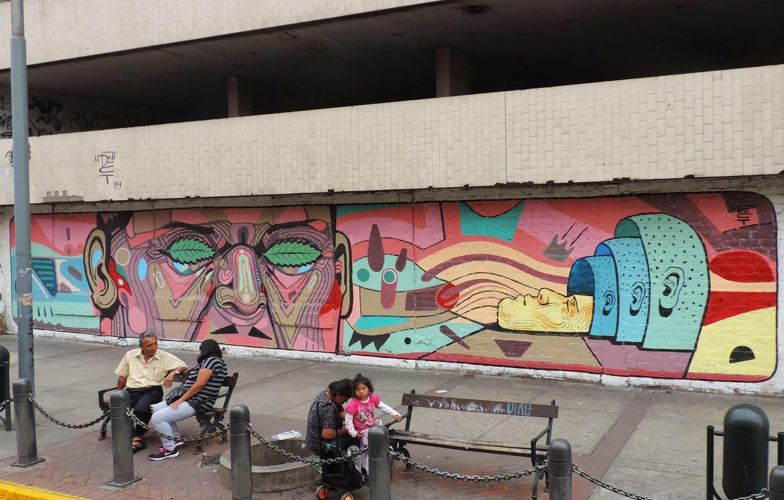 New Mural by Daniel Cortez aka El Decertor on the streets of Lima, Peru. 1