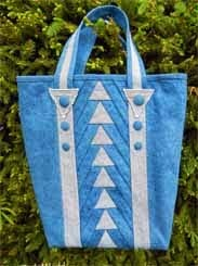 Denim quilt bag