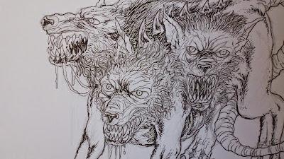 Cerberus creature art