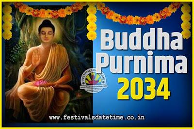 2034 Buddha Purnima Date and Time, 2034 Buddha Purnima Calendar