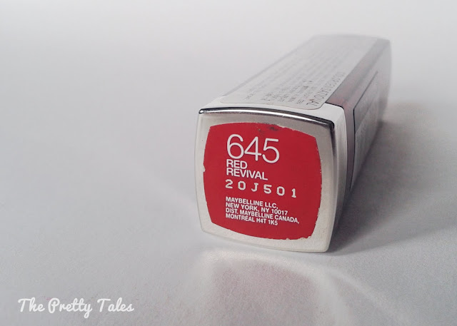 maybelline color sensational red revival review