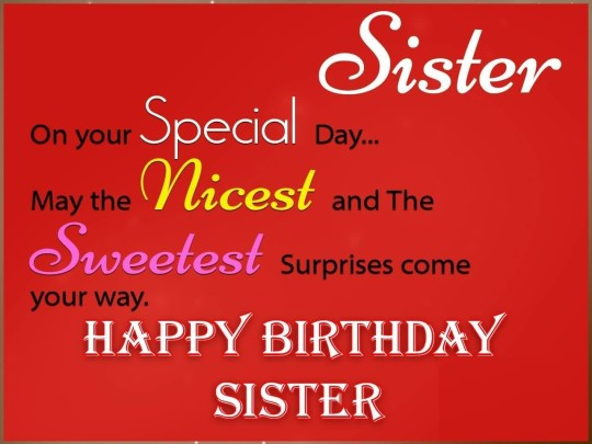 Happy Birthday Sister HD Wallpapers Free Download