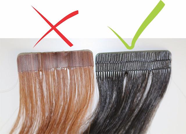 Diferença entre os dois tipos de mega hair de fita adesiva, que solta e que não solta fios