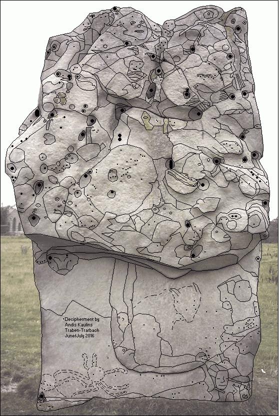 Avebury Stone #10 Front Side Photo Traced