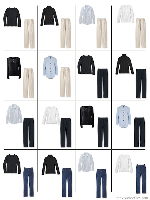 Common capsule wardrobe building blocks