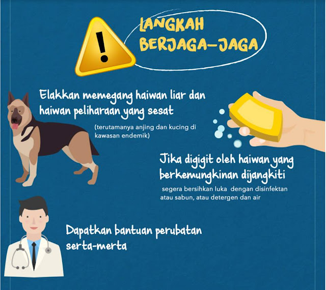 Langkah berjaga-jaga untuk penyakit anjing gila(rabies)
