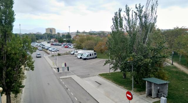 Vista generral de l'àrea d'autocaravanes de Granollers