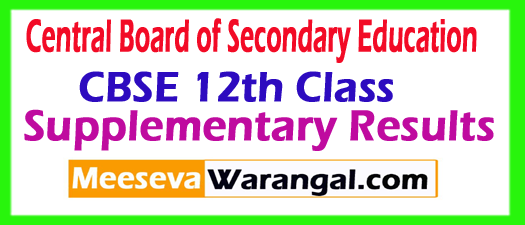 CBSE 12th Class Compartment Results 2017