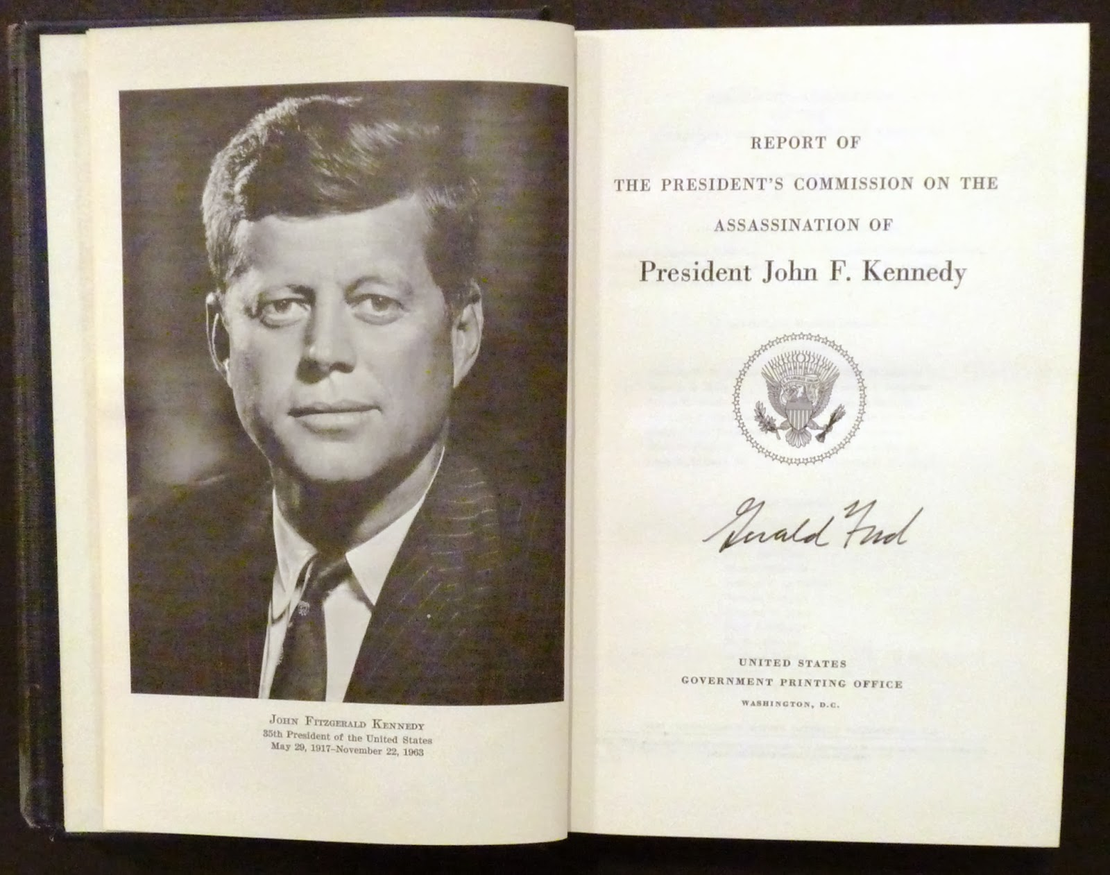 President John F Kennedy Wounded Original