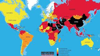 mappa libertà di stampa 2016