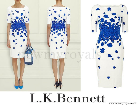 Kate Middleton wore L.K. Bennett Lasa Poppy Print Dress