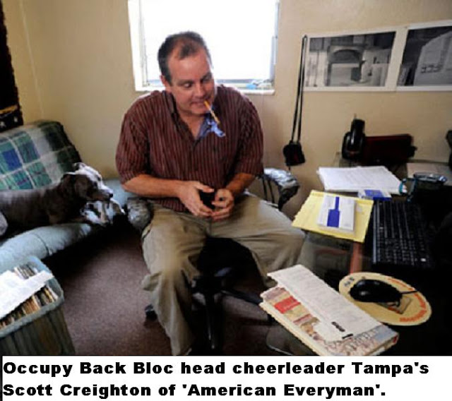 The Occupy Back Bloc head cheerleader is Tampa's Scott Creighton of 'American Everyman'