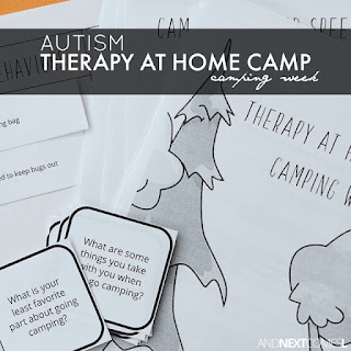 Autism Therapy At Home Camp: Camping Week