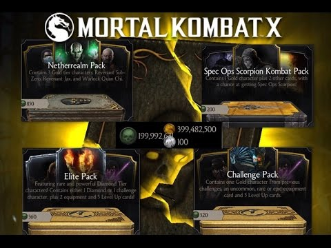 Mortal Combat X ~ All Characters & Gears PACKS Opening/CrazyHero/iOS