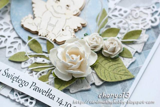 kwiaty z papieru -białe róże