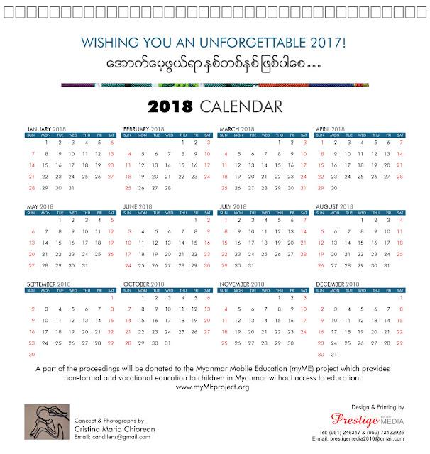 Myanmar Year Calendar : My life in myanmar desk calendar