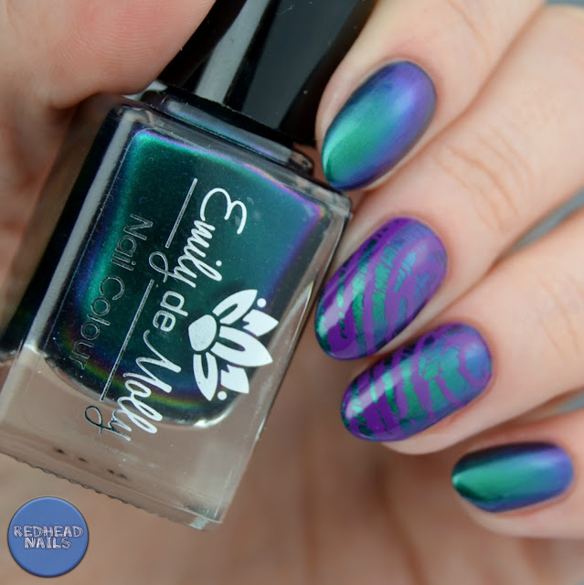 swatch Emily de Molly Shallow Depths stamping plate EDM32