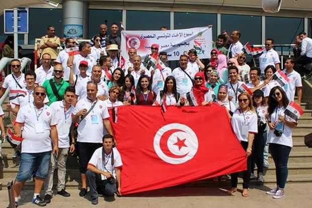 الشباب والرياضة تستقبل الوفد التونسى بمطار القاهرة( اسبوع الاخاء المصرى التونسى )
