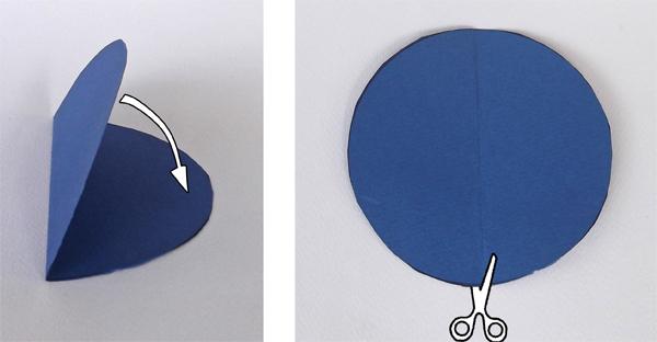 πώς να κόψω ημικύκλια, πώς να κόψω κύκλο στη μέση, ημικύκλια