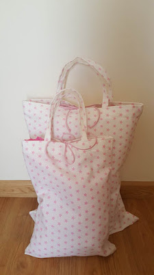 Unlined tote bags with pretty seams