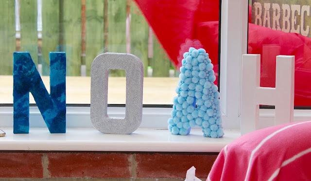 3d Mache letter decoration baby room craft idea