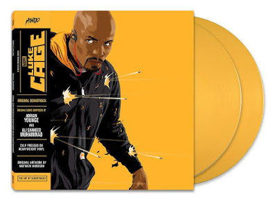 Marvel's Luke Cage Original Soundtrack 2xLP Vinyl Record Cover Artwork by Matthew Woodson & Mondo