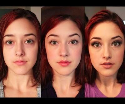 Wanita dan make up menyerupai siswa sekolah dengan bukunya Tips Bijak Bermake Up