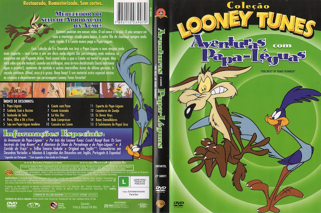 Capa DVD Coleção Looney Tunes Aventuras Com Papa Léguas