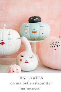 inspirations et idées diy citrouilles peintes halloween blog unjourmonprinceviendra26.com