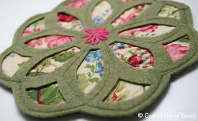 Olive Vintage Trivet | DIY Coasters by CustodiansofBeauty.blogspot.com