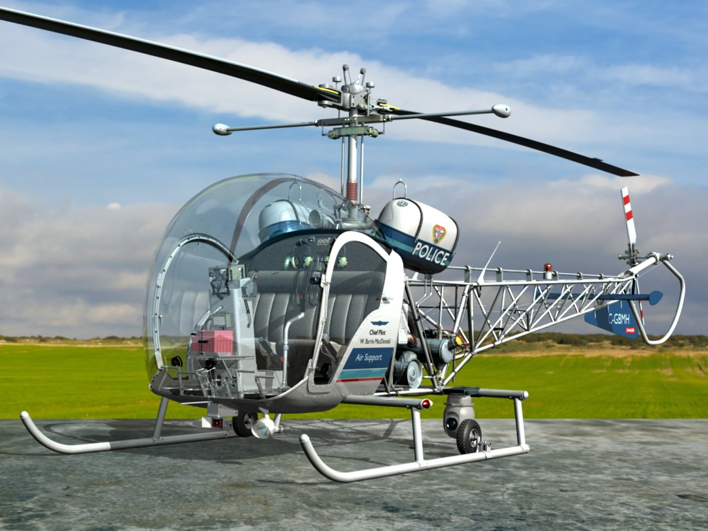 Cool Jet Airlines Bell 47 Helicopter