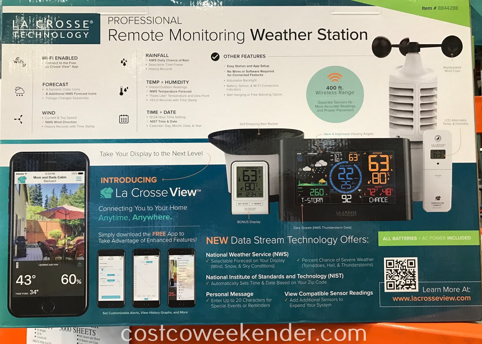 Costco 8844288 - La Crosse Professional Remote Monitoring Weather Station: more accurate than online resources