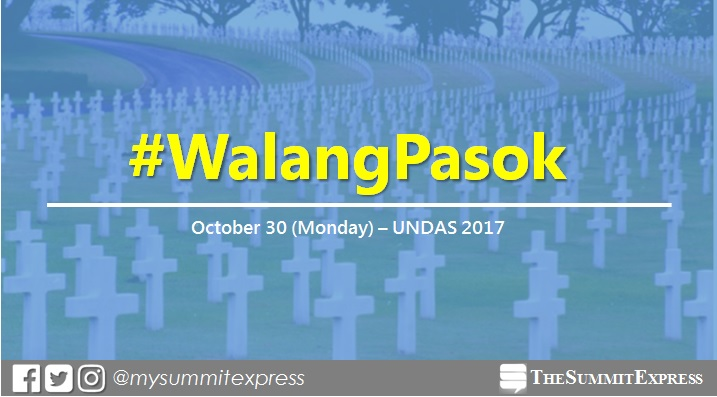 #WalangPasok: Class, work suspensions on Monday, October 30, 2017