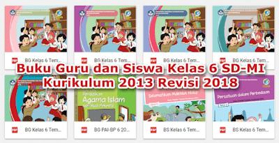 Buku Guru dan Siswa Kelas 6 Kurikulum 2013 Revisi 2018 Lengkap Semua Tema