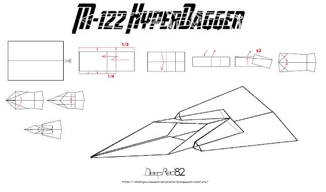 Infografía avión de papel M-122 HyperDagger