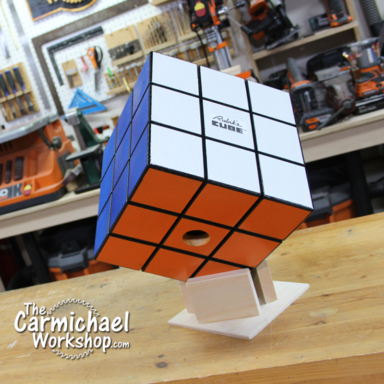 Carmichael Workshop Rubik's Cube Birdhouse
