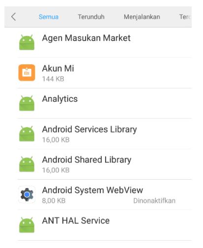 aplikasi pada HP Xiaomi